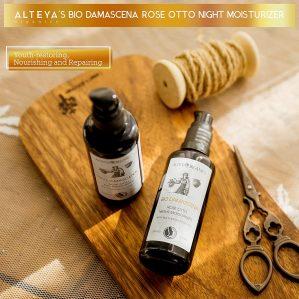 Alteya Certified Organic Rose Otto Night Face Moisturizer
